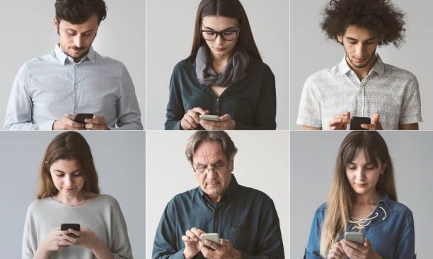 Menschen mit dem Handy – Foto