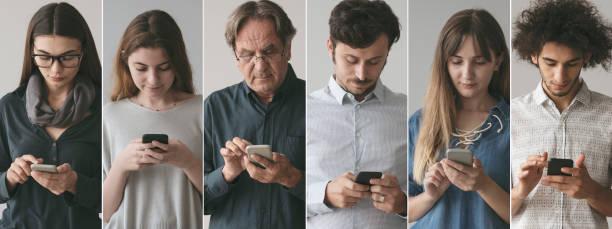 Menschen, die das Handy benutzen – Foto