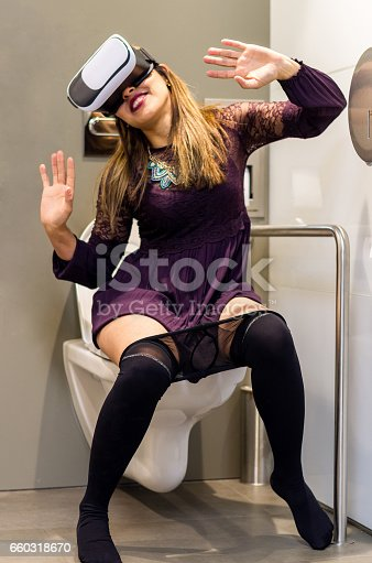 istock People Using Virtual Reality headset toilet vr 660318670