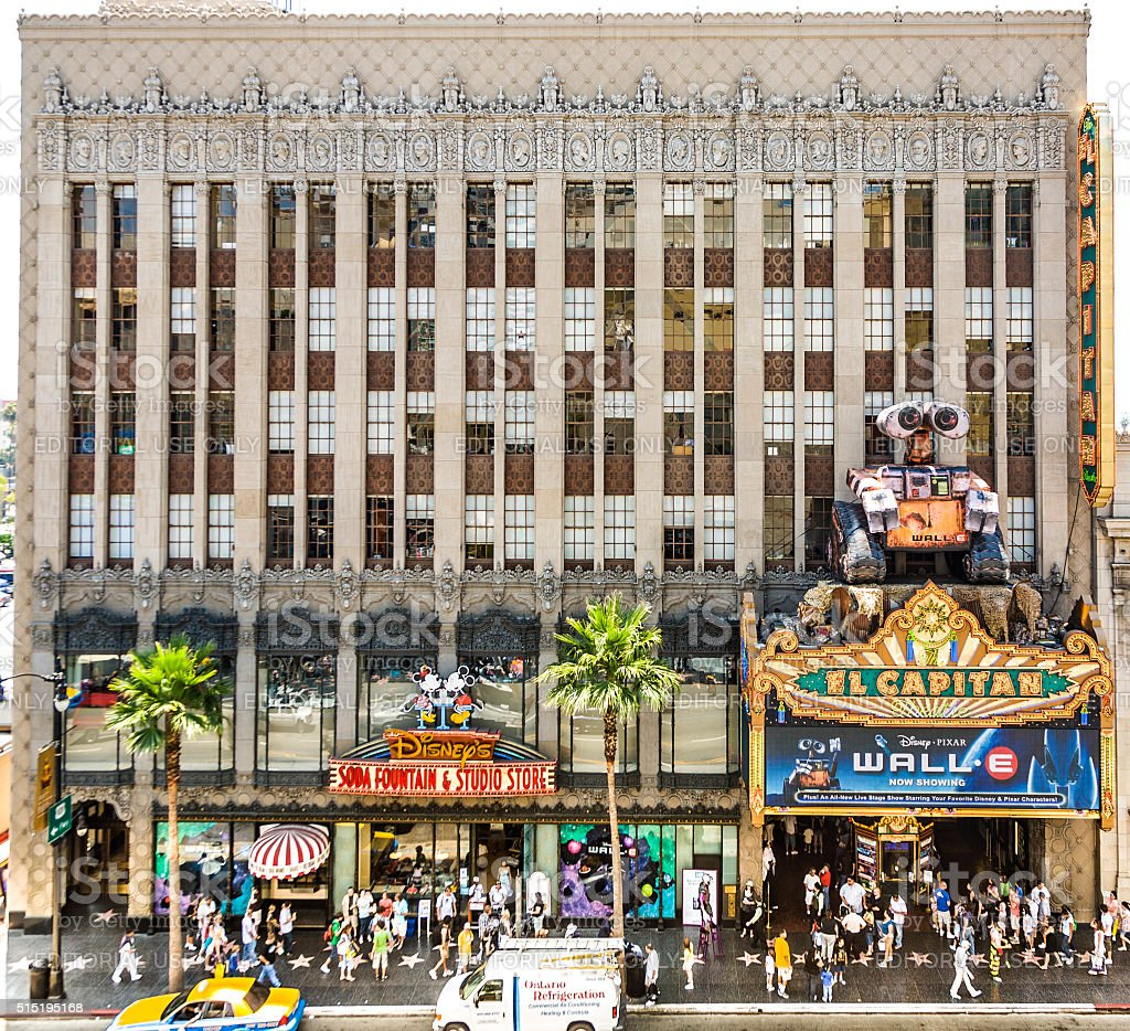 people visit famous el capitan theatre in hollywood stock photo