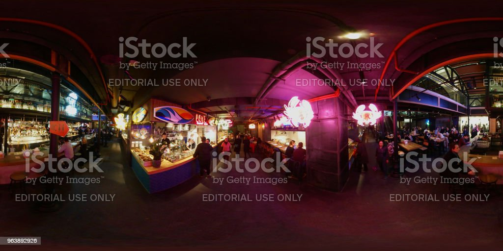 People visit food court at Central market - Royalty-free Backgrounds Stock Photo