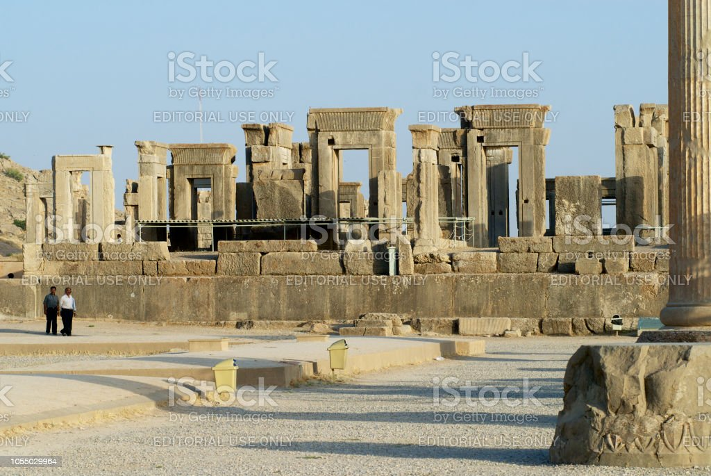 People Visit Ruins Of Persepolis In Shiraz Iran Stock Photo Download Image Now Istock
