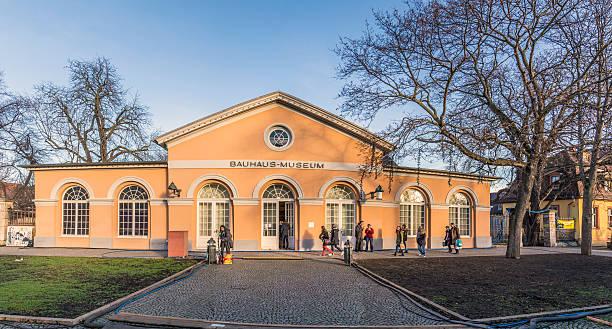 Personnes visitez le Musée Bauhaus à Weimar - Photo