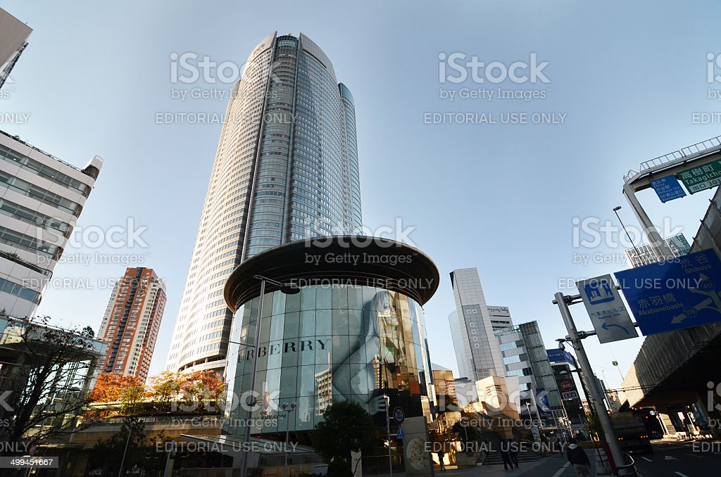 People visit the  Mori Tower in Roppongi Hills stock photo