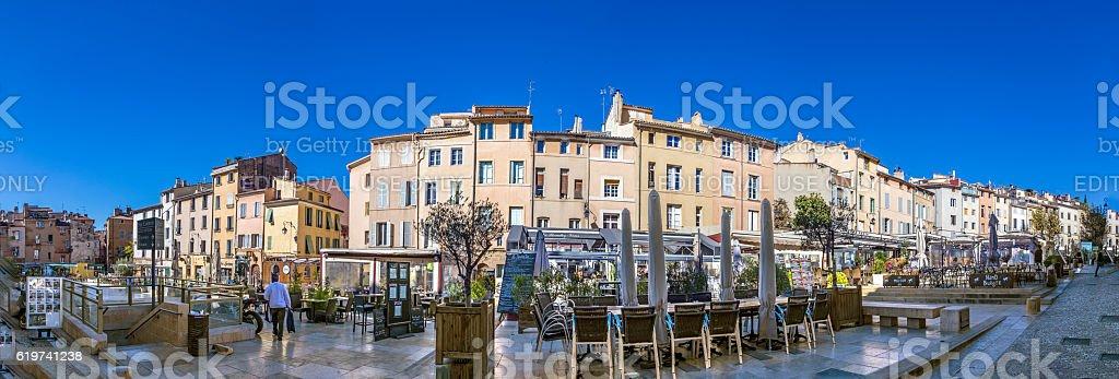 people visit the place de cadeurs with its famous restaurants stock photo