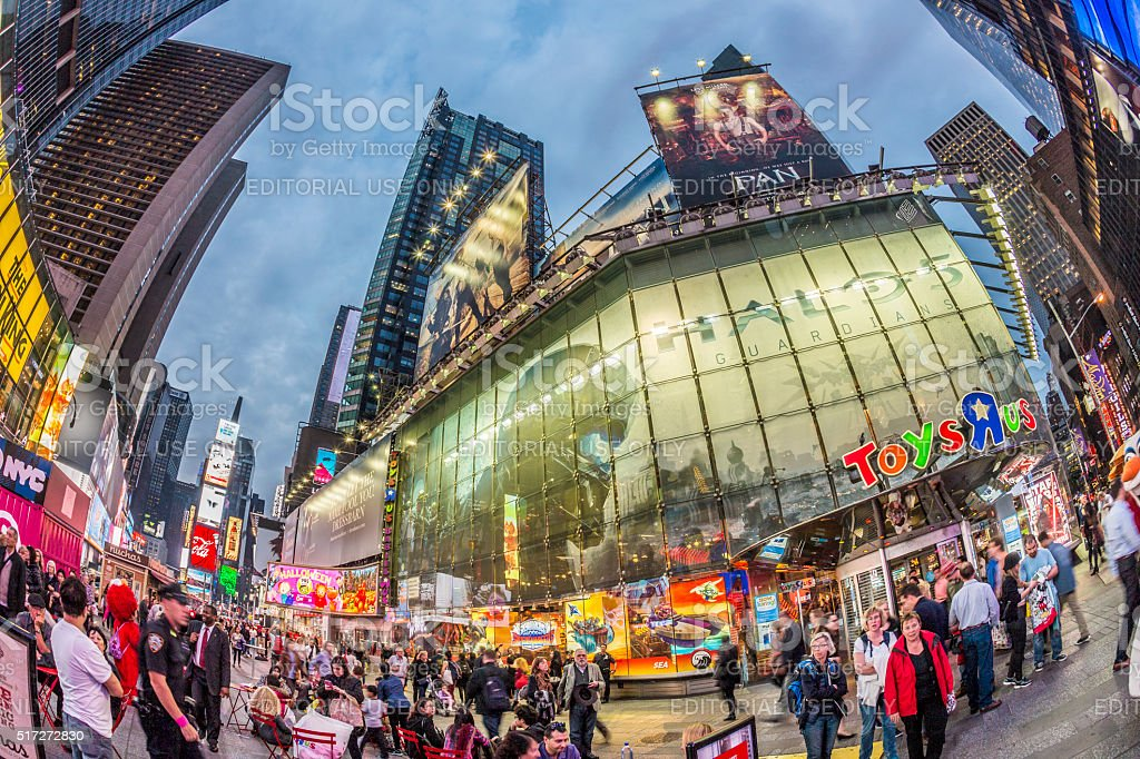 people visit Times Square, featured with Broadway Theaters stock photo