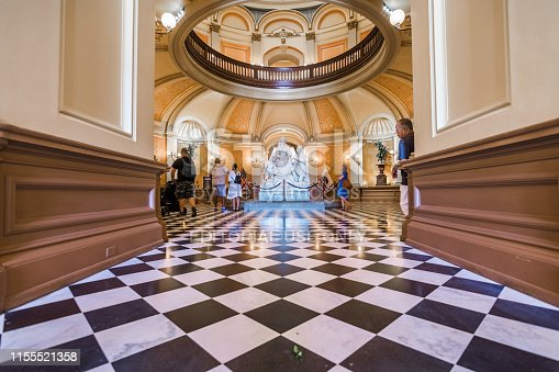 September 22, 2018 Sacramento / CA / USA - People visiting the California State Capitol; The building serves as both a museum and the state