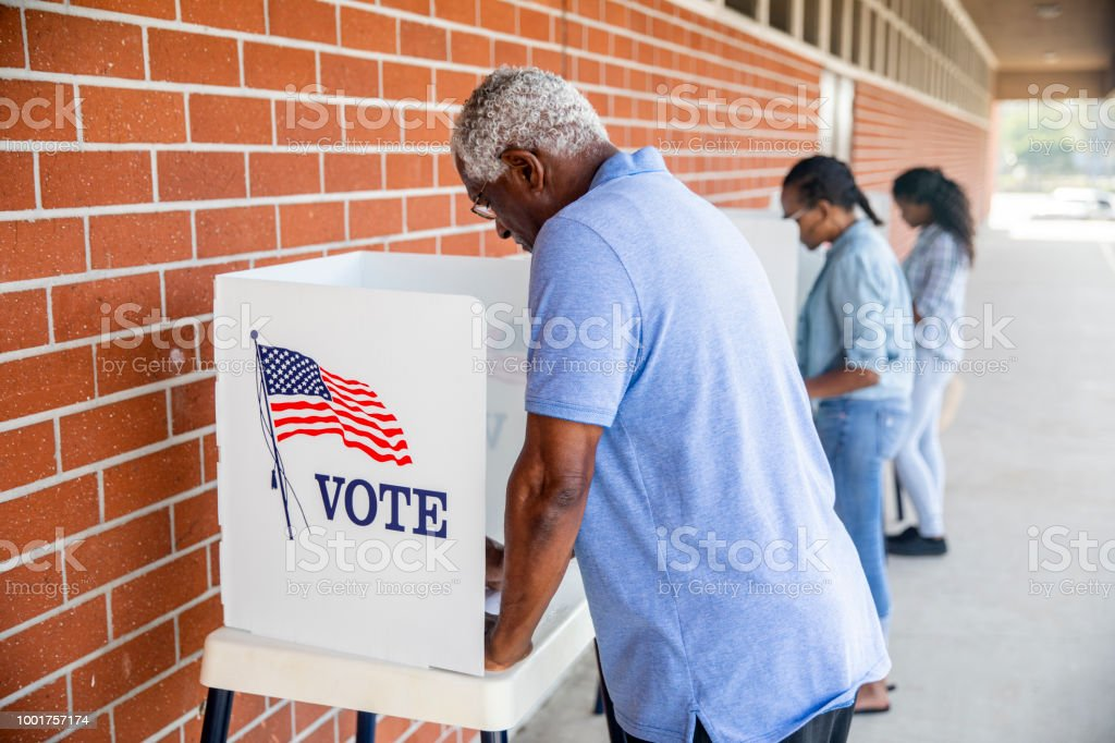People Voting in a Government Election stock photo