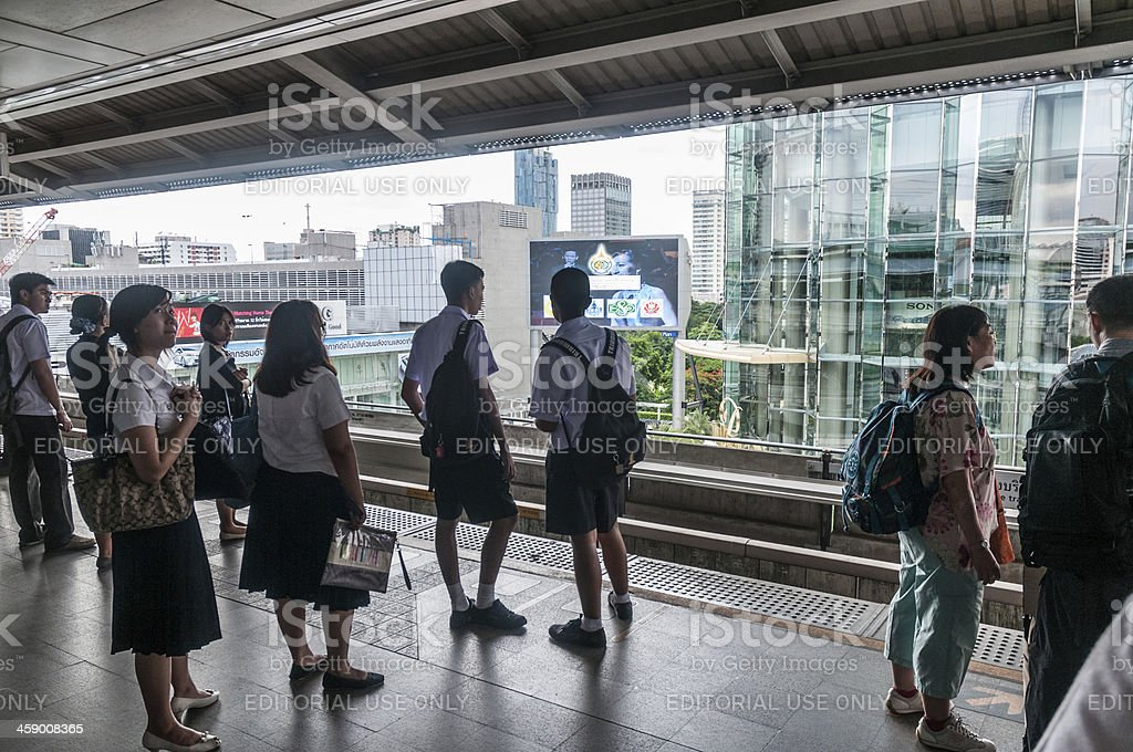 People Waiting For A Train royalty-free stock photo