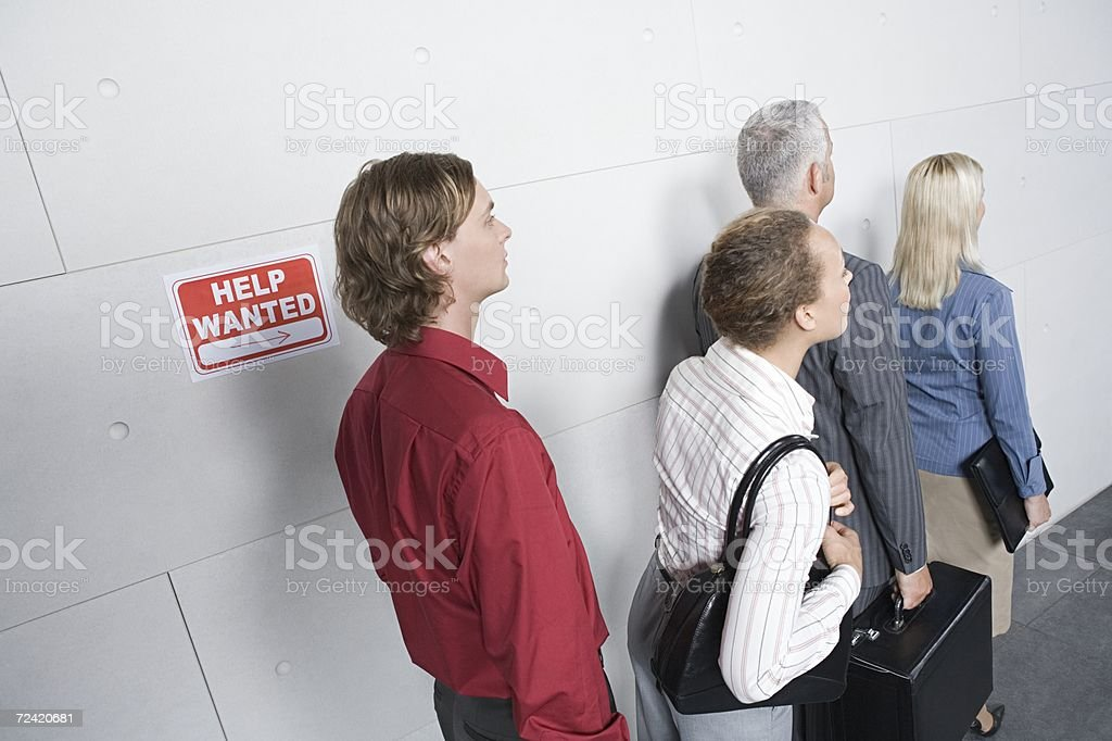 People waiting for an interview royalty-free stock photo