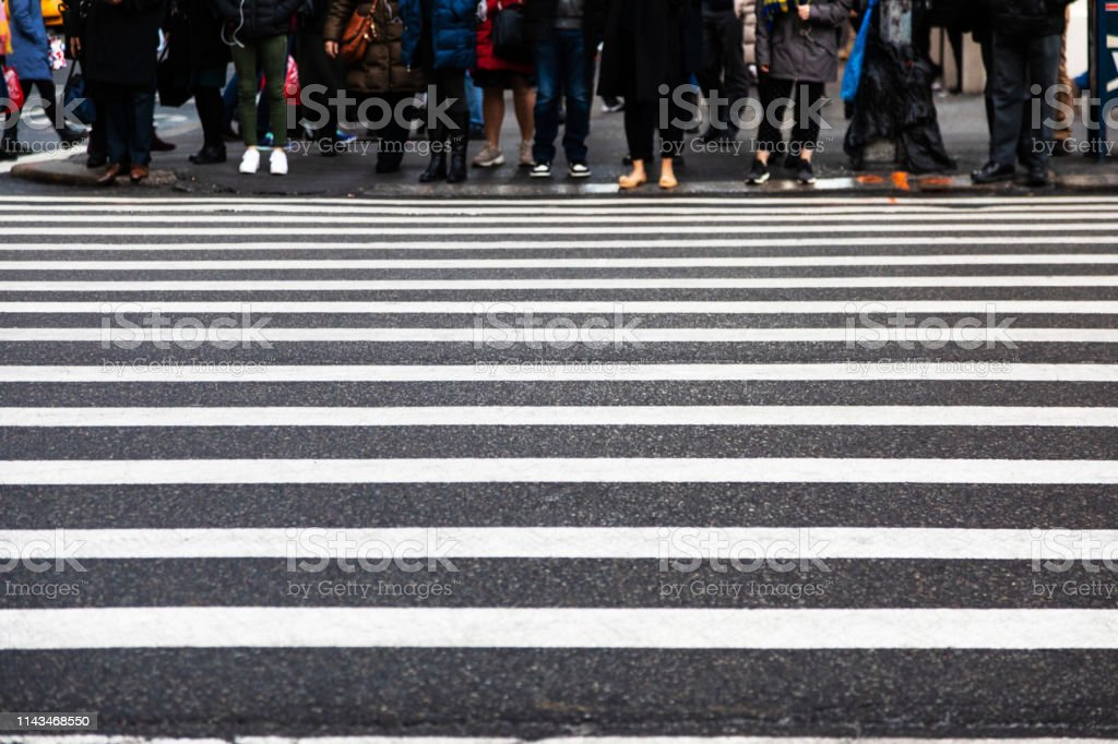 People waiting for crossing street