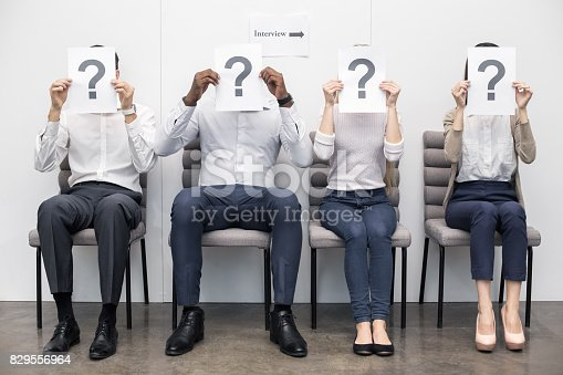 istock People Waiting for Job Interview Concept 829556964