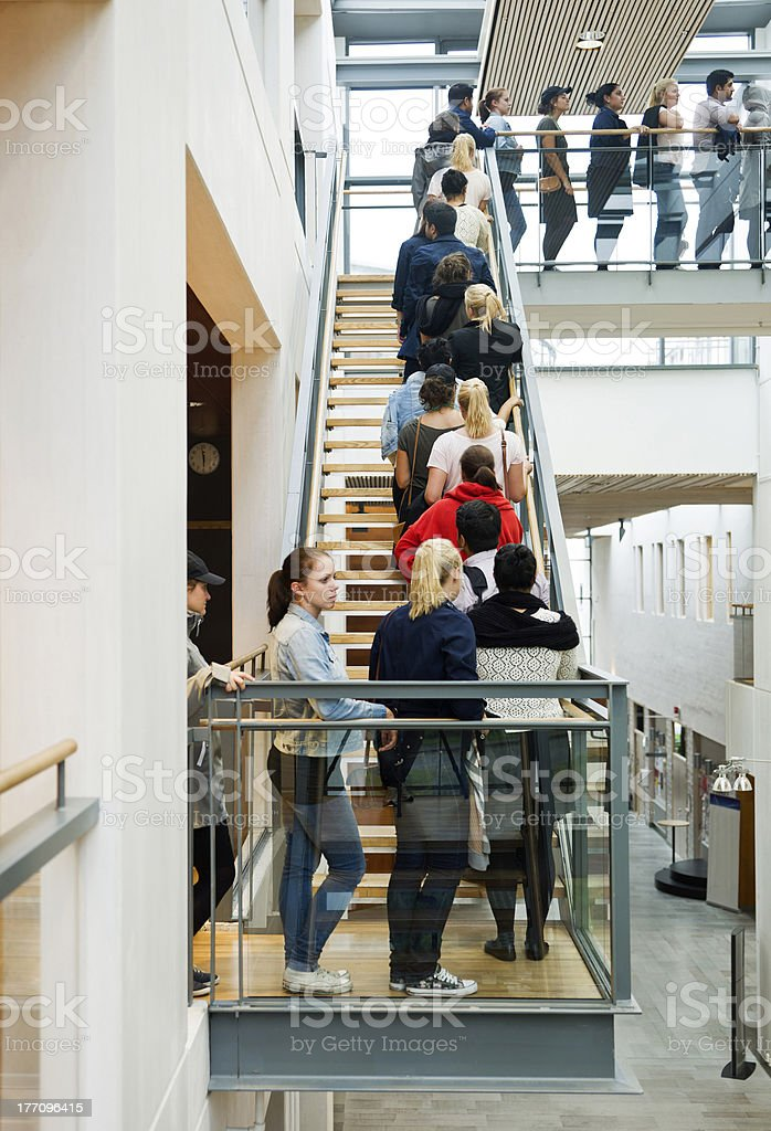 People waiting in line stock photo