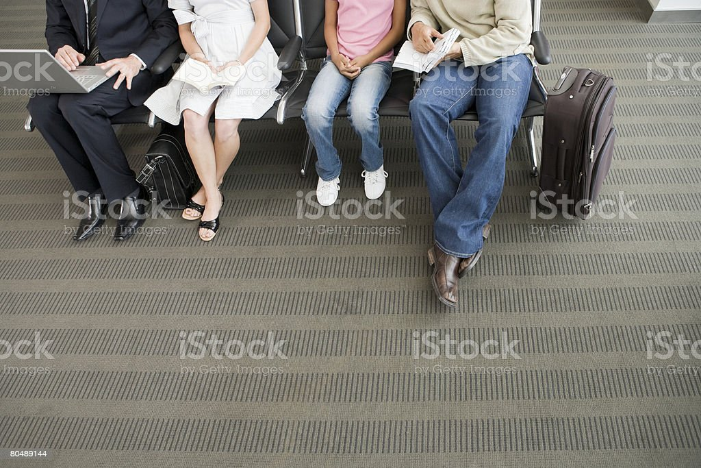 People waiting in the departure lounge royalty-free 스톡 사진