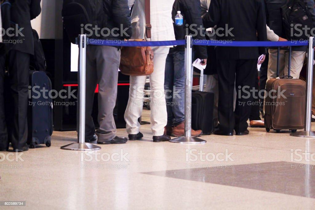 People waiting stock photo