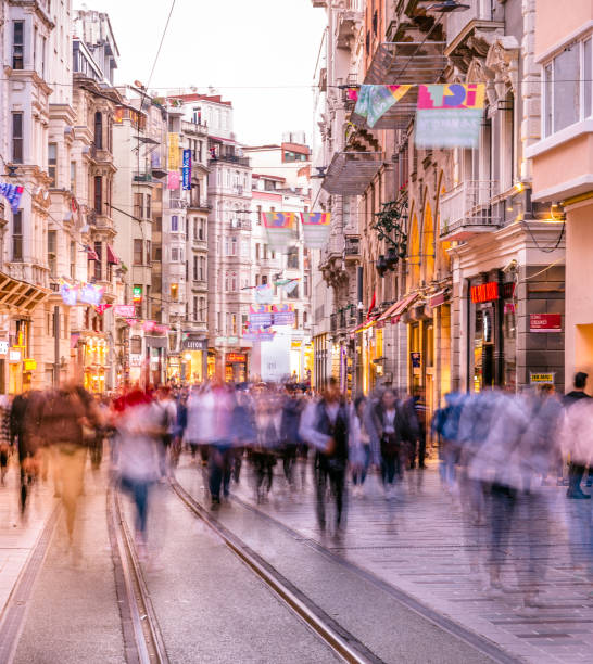 Cтоковое фото People walk at Istiklal street in Istanbul