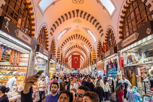 Die Menschen Gehen In Spice Oder Ägyptische Basar Stockfoto und mehr Bilder von Alt