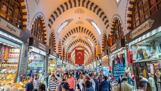 Mensen Lopen In Spice Of Egyptische Bazaar Stockfoto en meer beelden van Ambachtelijk eten en drinken