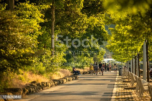 969439086 istock photo People walk the Heritage Trail by Point State Park in downtown Pittsburgh Pennsylvania USA 1216243840