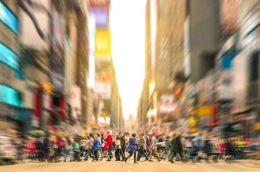 istock People walking and traffic jam in New York City Manhattan 533189617