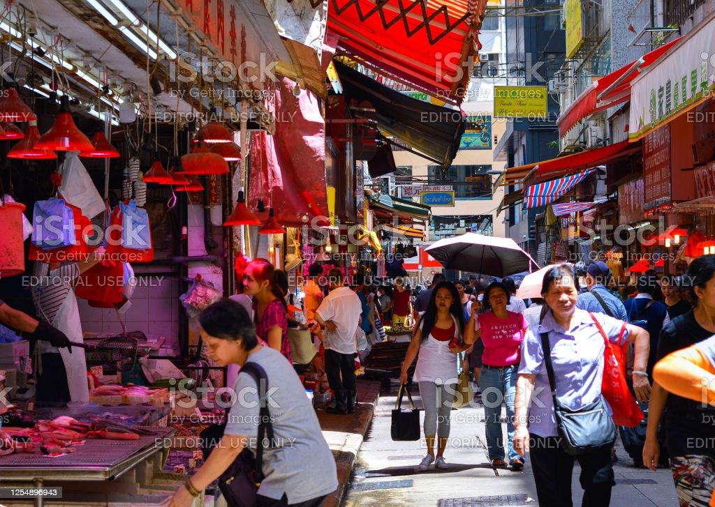 Worried Sick Citizens Wear Masks On The Street In Hong
