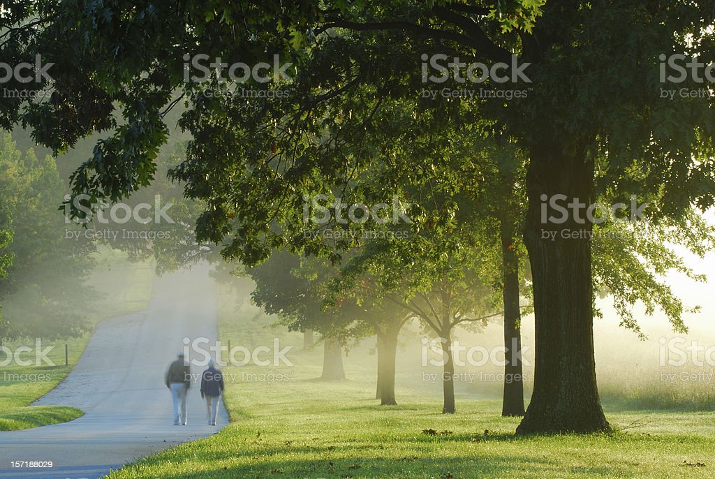People Walking at Valley Forge National Park stock photo