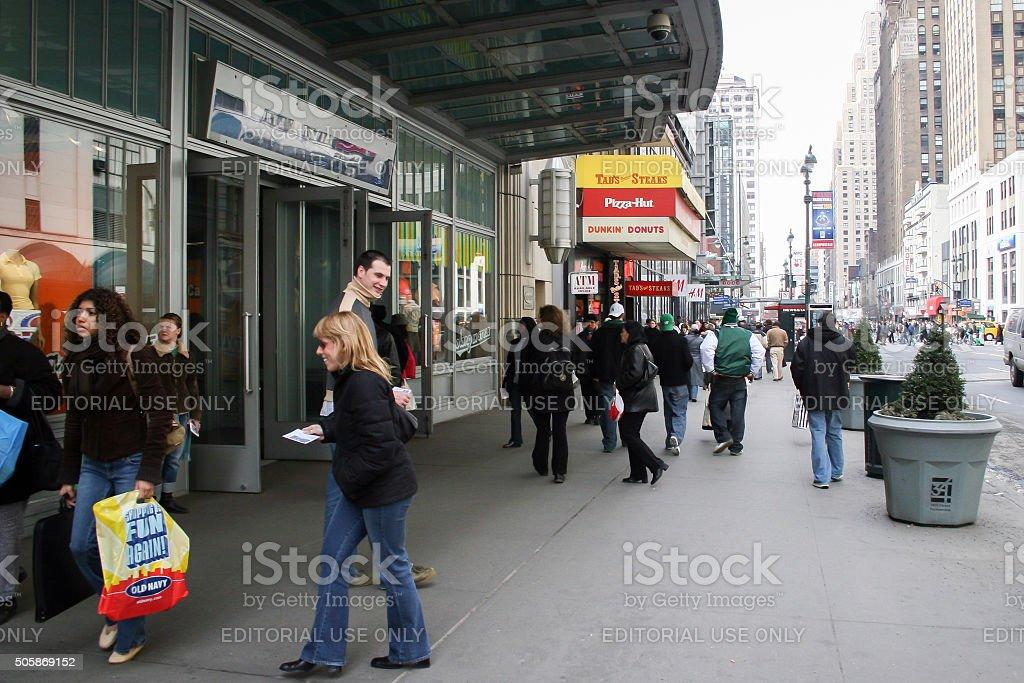People walking in Manhattan stock photo