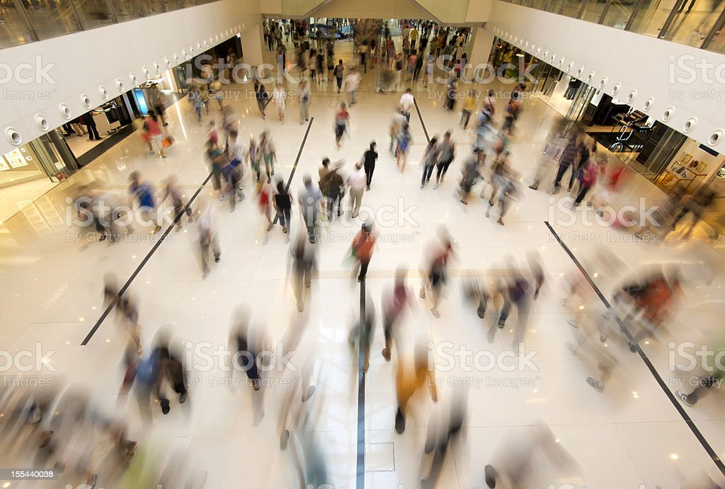 People Walking in Shopping stock photo