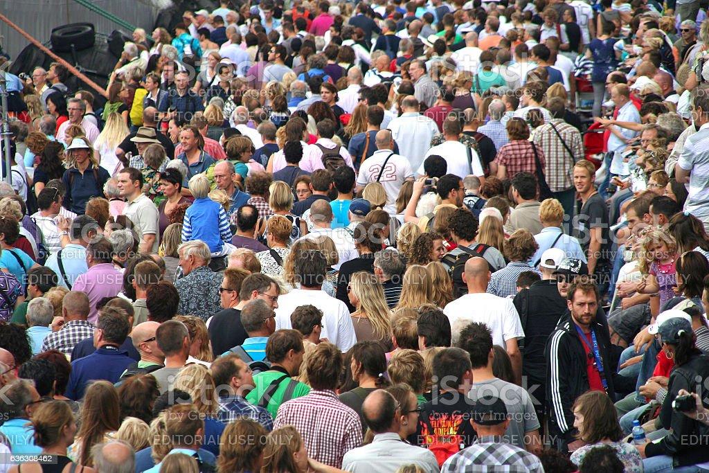 People walking in the street stock photo
