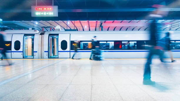 People walking in train station People walking in train station subway platform stock pictures, royalty-free photos & images