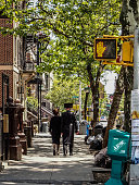 New York - United States June 17, 2014 - People walking in Williamsburg in New York