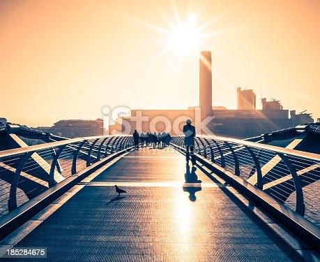 istock People Walking On Millenium Bridge, London 185284675