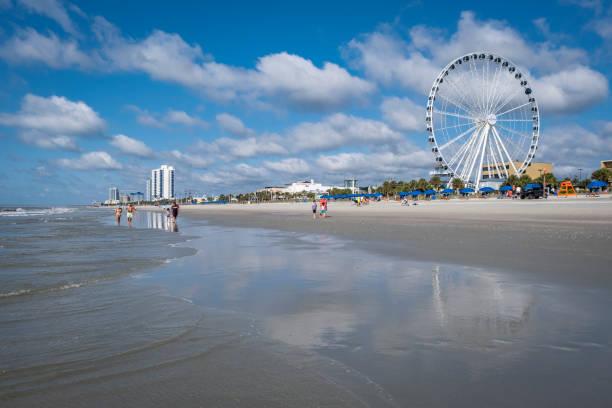 People Walking on Myrtle Beach stock photo