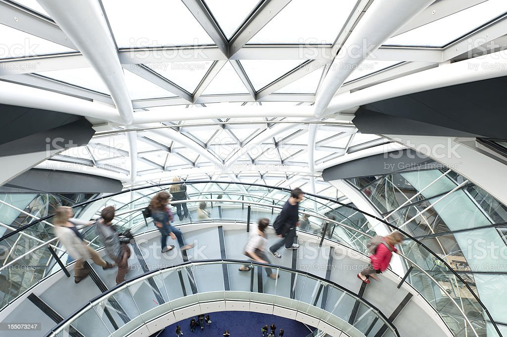 People Walking on Spiral Staircase royalty-free stock photo