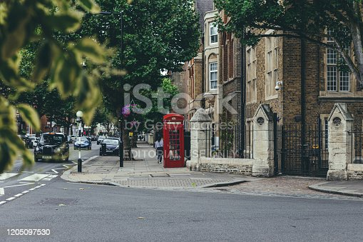 London/UK-30/7/18: people walking past The City of Westminster College on Elgin Avenue. City of Westminster College is a further education college located in the borough of Westminster, central London