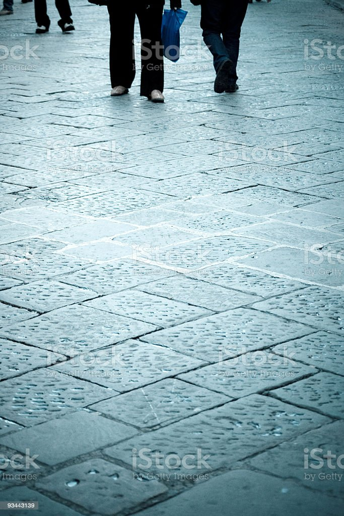 Menschen walking Lizenzfreies stock-foto