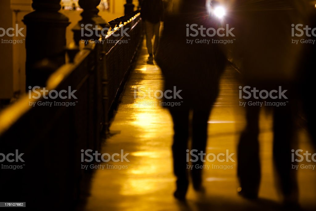 People walking the streets of Sevilla royalty-free stock photo