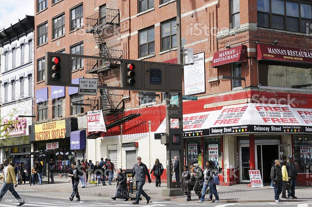 People Walking,Harlem,NYC. royalty-free stock photo