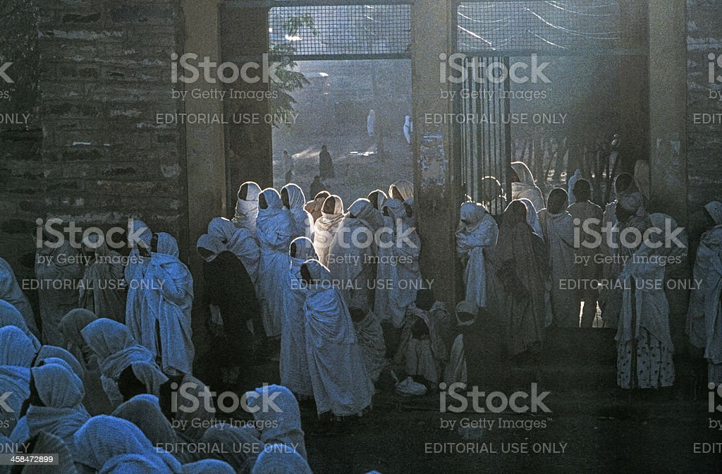 people watch the ceremony of holy ark stock photo