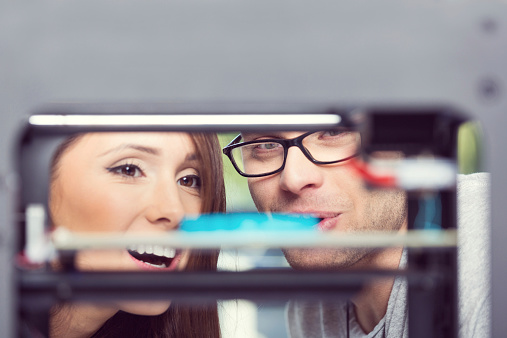 People Watching 3d Printout Stock Photo - Download Image Now