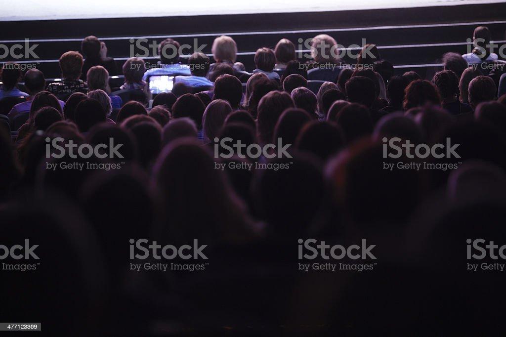 People watching cinema stock photo