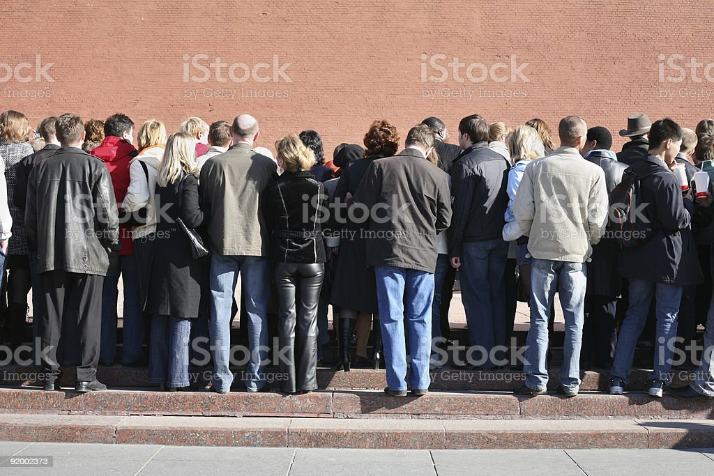 people watching event stock photo