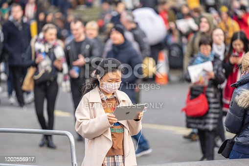 1202557009istockphoto People wearing a face masks to protecting themself because of epidemic in China. Selective Focus. Concept of coronavirus quarantine. 1202556917