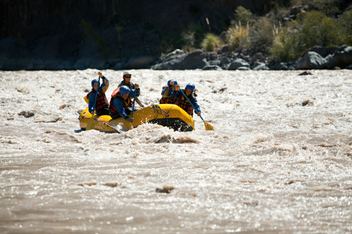 People White Water Rafting Stock Photo - Download Image Now