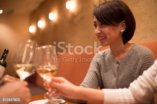 istock People who are celebrating the woman's birthday 512347620