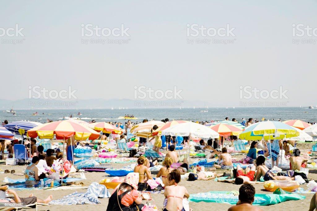 People who enjoy swimming stock photo