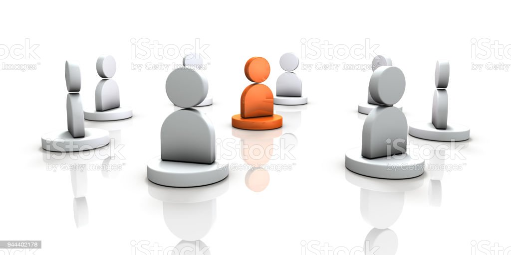 People who surround important people. stock photo