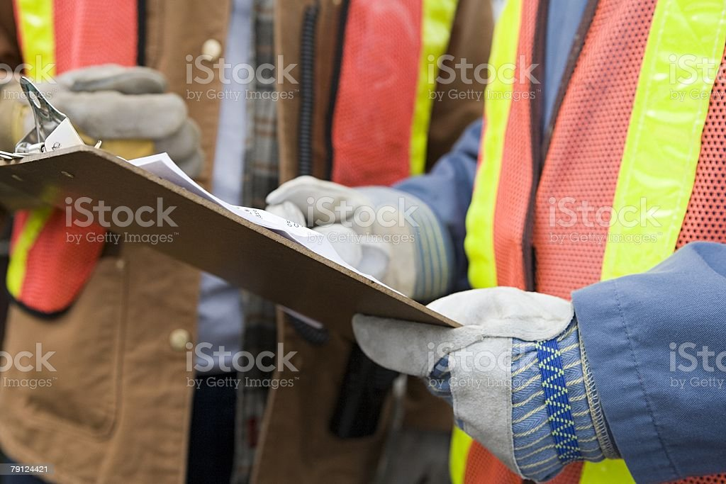People with clipboard 免版稅 stock photo