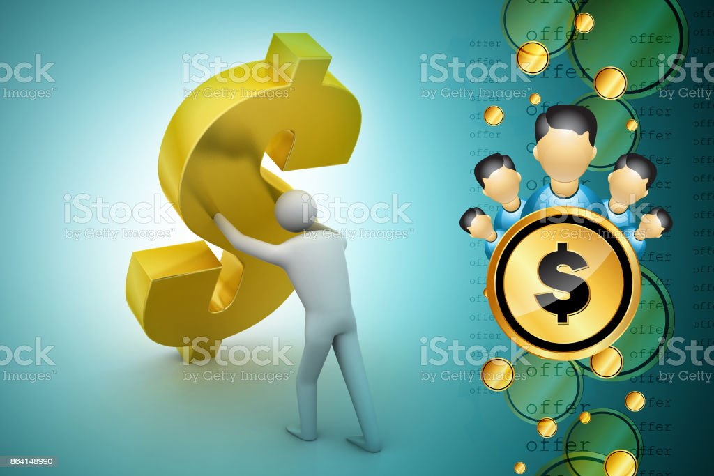 People with dollar sign royalty-free stock photo