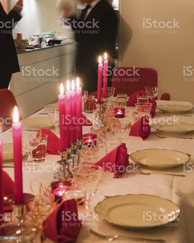 People with drinks at a party. stock photo